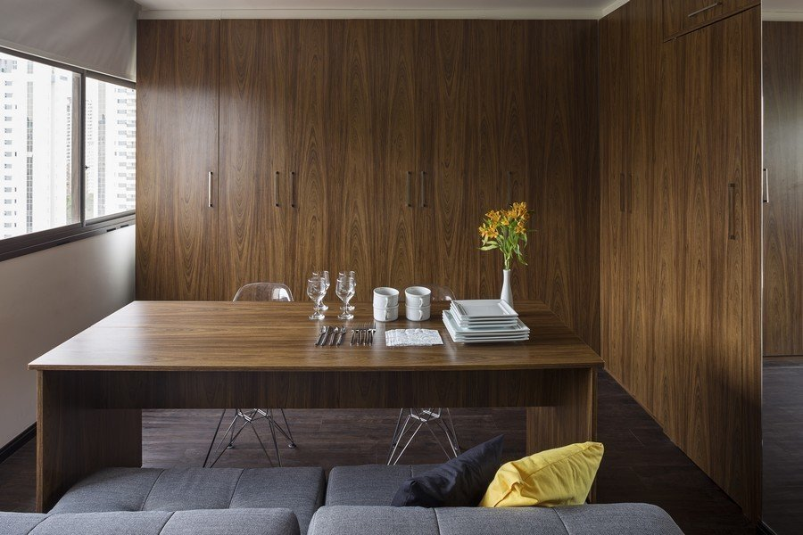 Фотография: Кухня и столовая в стиле Современный, Малогабаритная квартира, Квартира, Дома и квартиры – фото на InMyRoom.ru
