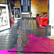 Фотография: Гостиная в стиле Лофт, Восточный, Эклектика, Дом, Дома и квартиры – фото на InMyRoom.ru
