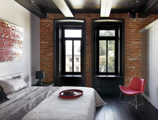 Фотография: Спальня в стиле Лофт, Декор интерьера, Дизайн интерьера, Цвет в интерьере – фото на InMyRoom.ru