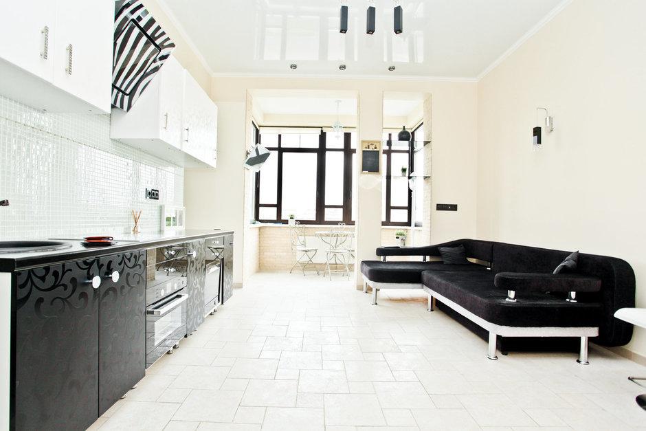 Фотография: Гостиная в стиле Современный, Квартира, Цвет в интерьере, Дома и квартиры – фото на InMyRoom.ru