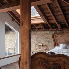 Фотография: Спальня в стиле Кантри, Лофт, Квартира, Терраса, Дома и квартиры, Лондон, Мансарда – фото на InMyRoom.ru