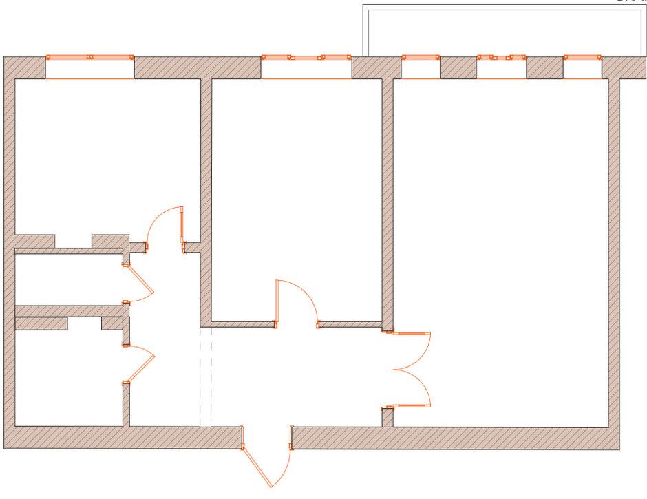 Фотография: Планировки в стиле , Квартира, Проект недели, Москва, Сталинка, 2 комнаты, 60-90 метров, Ирина Киреева, dots&points – фото на InMyRoom.ru