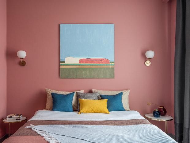 Фотография: Спальня в стиле Современный, Квартира, Проект недели, Москва, Евгения Матвеенко, FlatsDesign, 3 комнаты, Более 90 метров – фото на INMYROOM