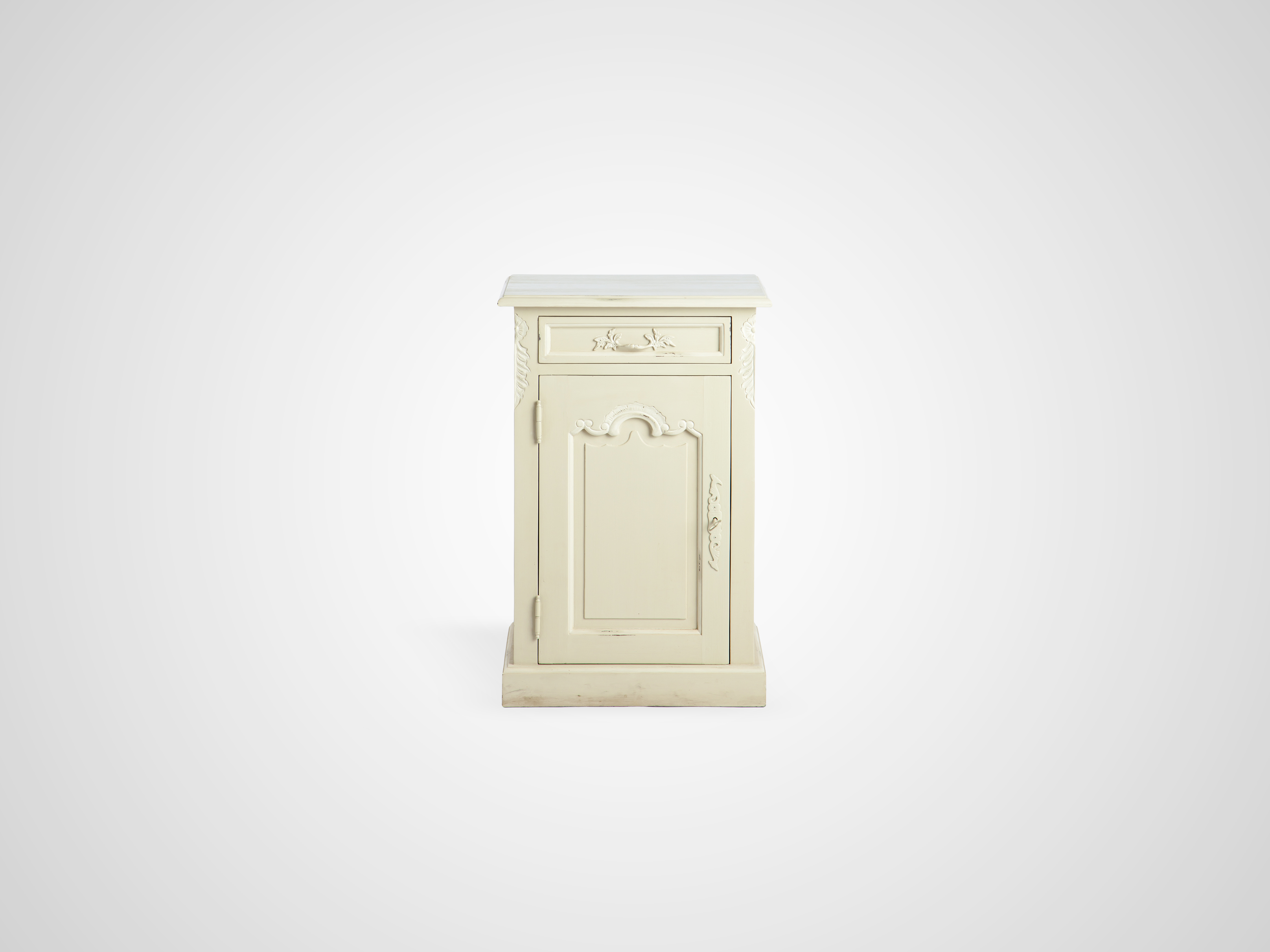 Купить Тумба со старением, дверца украшена резьбой 78x48x35 см, inmyroom, Индонезия