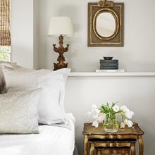 Фотография: Спальня в стиле Кантри, Декор интерьера, DIY, Дом, Декор дома, Цвет в интерьере, Обои – фото на InMyRoom.ru