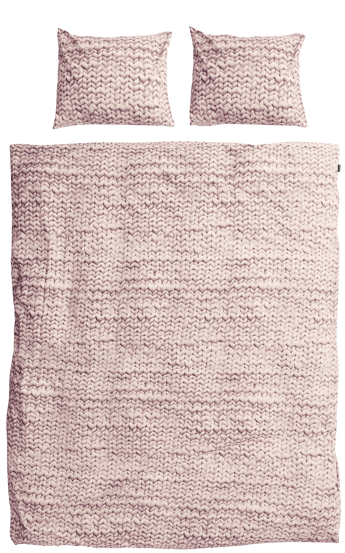 Купить Комплект постельного белья Косичка 200х220 розовый фланель, inmyroom, Нидерланды