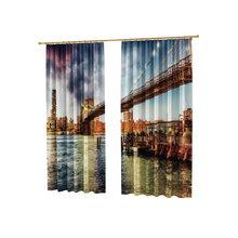 Шторы с фотопечатью: Мост над водой