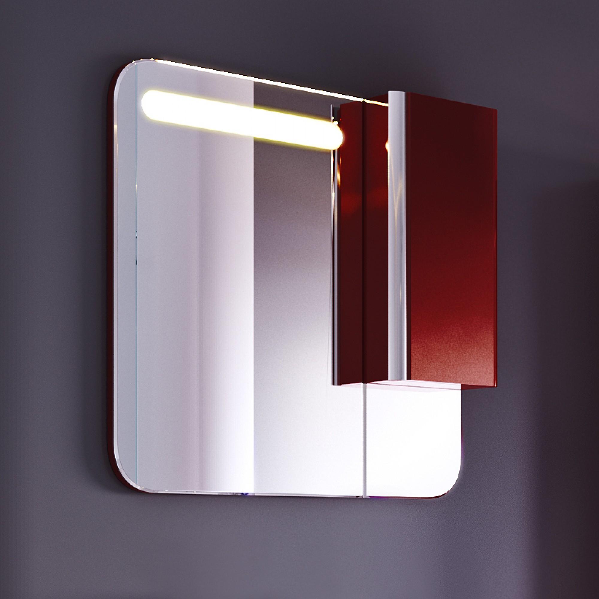 Зеркало-шкаф Largo 80 темный кармин