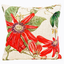 Декоративная подушка «Цветочный перфоманс», версия 6