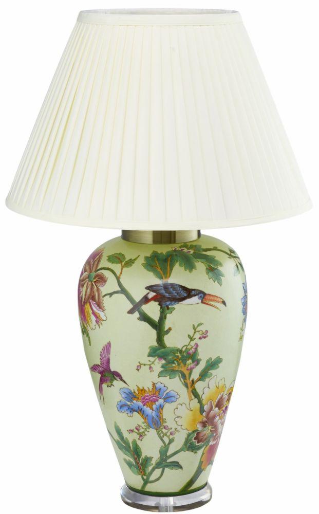 Купить Настольная керамическая лампа с белым абажуром, inmyroom