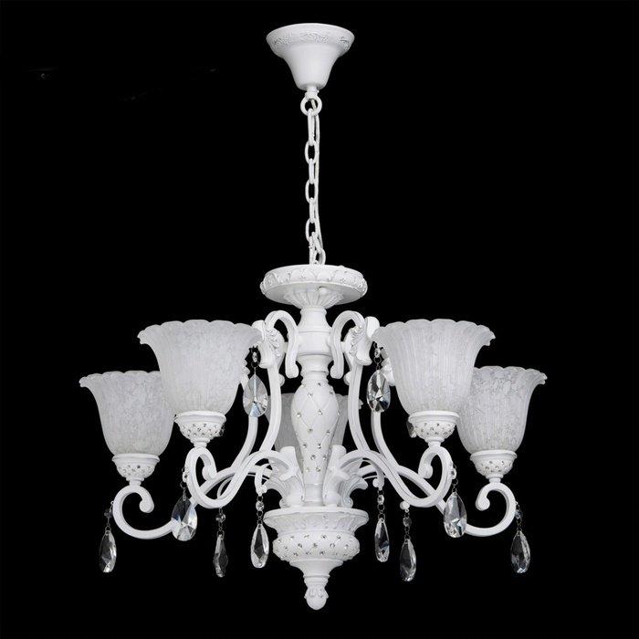 Подвесная люстра CHIARO Версаче c подвесками из стекла