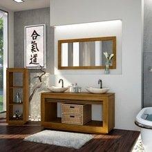 Фотография: Ванная в стиле Кантри, Современный, Восточный, Интерьер комнат, Teak House, Эко – фото на InMyRoom.ru