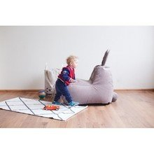 Детский бескаркасный пуф-заяц