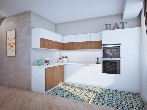 Фотография: Кухня и столовая в стиле Современный, Классический, Квартира, Планировки, Мебель и свет, Проект недели – фото на InMyRoom.ru