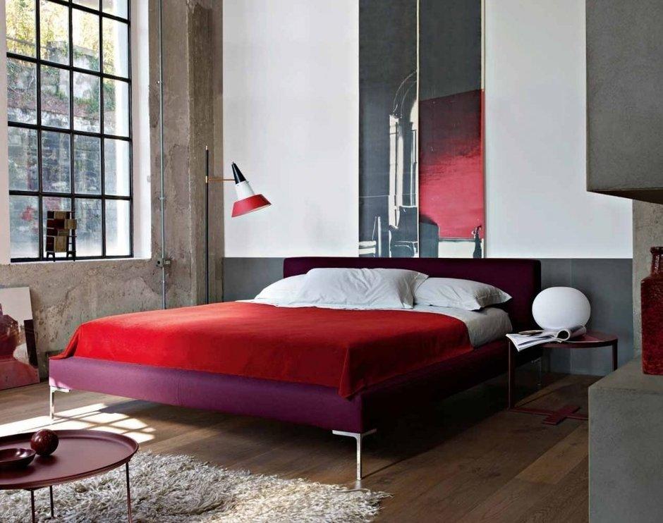 Фотография: Спальня в стиле Лофт, Современный, Декор интерьера, Интерьер комнат, Проект недели, B&B Italia – фото на InMyRoom.ru