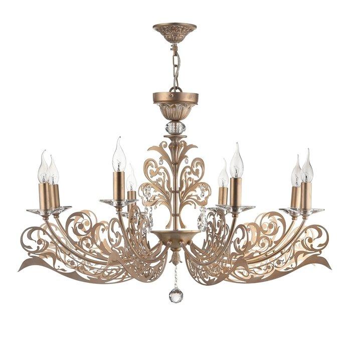 Подвесная люстра Maytoni Salute в виде свечей с хрустальными подвесками