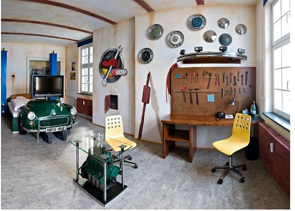 Фотография: Спальня в стиле Лофт, Современный, Детская, Интерьер комнат – фото на InMyRoom.ru
