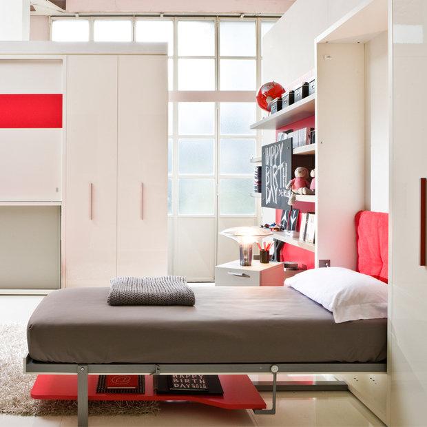 Фотография: Детская в стиле Лофт, Современный, Советы, Бежевый, Серый, Мебель-трансформер, кровать-трансформер, диван-кровать – фото на INMYROOM