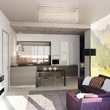Фото из портфолио Дизайн апартаментов в стиле лофт – фотографии дизайна интерьеров на InMyRoom.ru