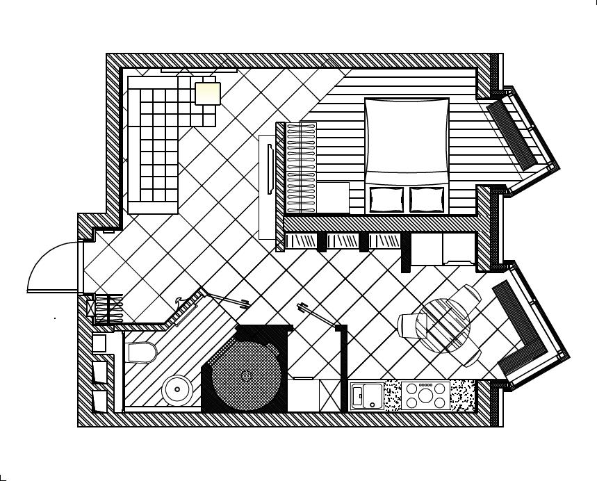 Фотография: Планировки в стиле , Квартира, Дома и квартиры, Минимализм – фото на InMyRoom.ru
