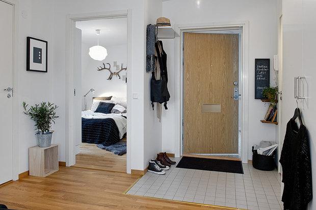 Фотография: Прихожая в стиле Скандинавский, Кухня и столовая, Малогабаритная квартира, Квартира, Дома и квартиры – фото на InMyRoom.ru