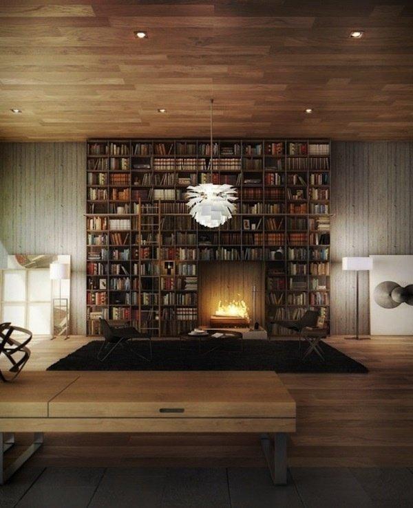 Фотография: Гостиная в стиле Лофт, Хранение, Стиль жизни, Советы, Библиотека – фото на InMyRoom.ru
