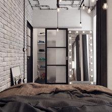 Фотография: Спальня в стиле Лофт, Проект недели – фото на InMyRoom.ru
