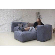 Модульный диван с подлокотниками-пуфами