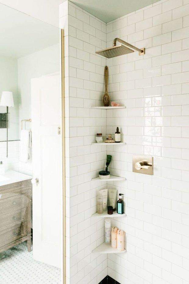 Фотография: Ванная в стиле Скандинавский, Советы, хранение вещей, система хранения в малогабаритке, идеи для малогабаритки – фото на INMYROOM