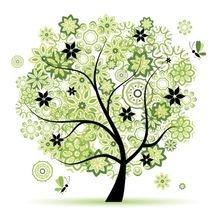 """Декоративная картина """"Разные деревья"""""""