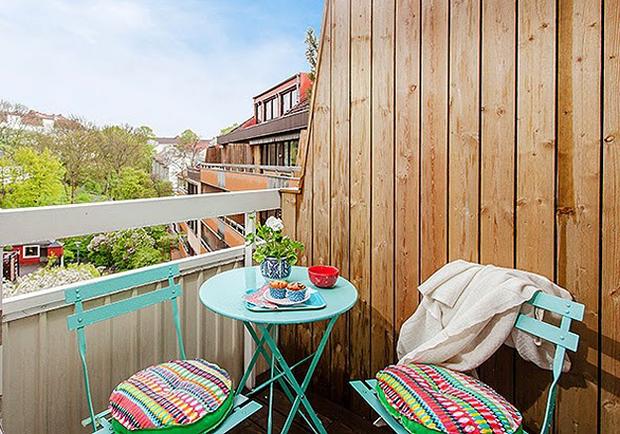 Фотография: Балкон, Терраса в стиле Лофт, Скандинавский, Малогабаритная квартира, Квартира, Дома и квартиры – фото на InMyRoom.ru