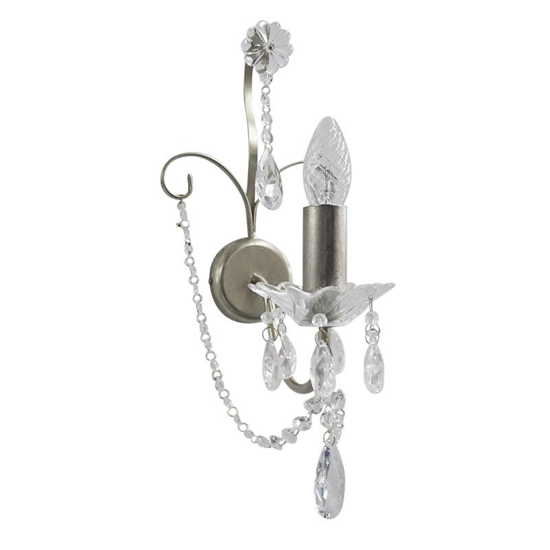 Купить Бра mm Lampadari Rugiada с цепочками и подвесками из прозрачного хрусталя, inmyroom, Италия
