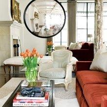 Фотография: Гостиная в стиле Кантри, Декор интерьера, Дом, Декор дома, Зеркало – фото на InMyRoom.ru