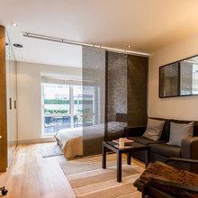 Фотография: Гостиная в стиле Современный, Малогабаритная квартира, Квартира, Дизайн интерьера – фото на InMyRoom.ru