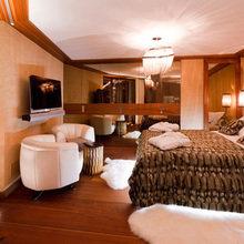 Фотография: Спальня в стиле Современный, Дом, Дома и квартиры, Большие окна, Шале – фото на InMyRoom.ru