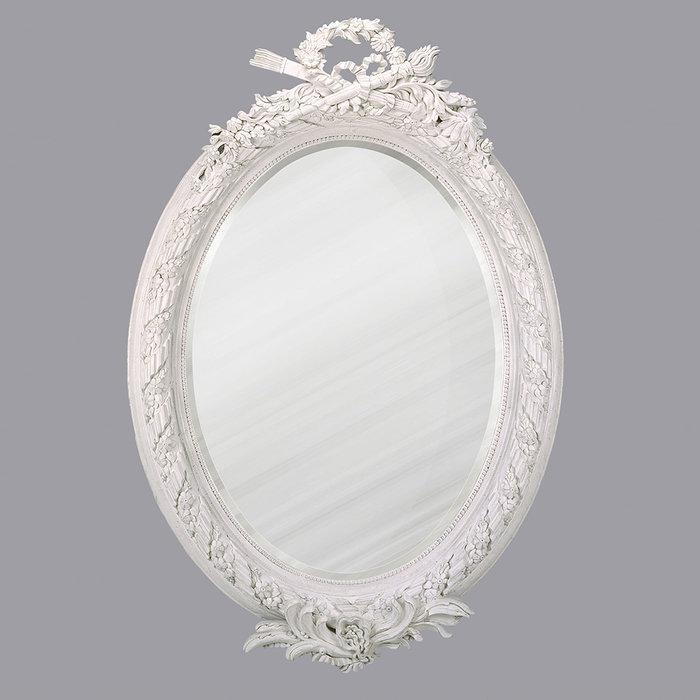 Овальное зеркало Picasso White
