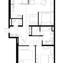Фото из портфолио дизайн-проект квартира 90 м2 – фотографии дизайна интерьеров на INMYROOM