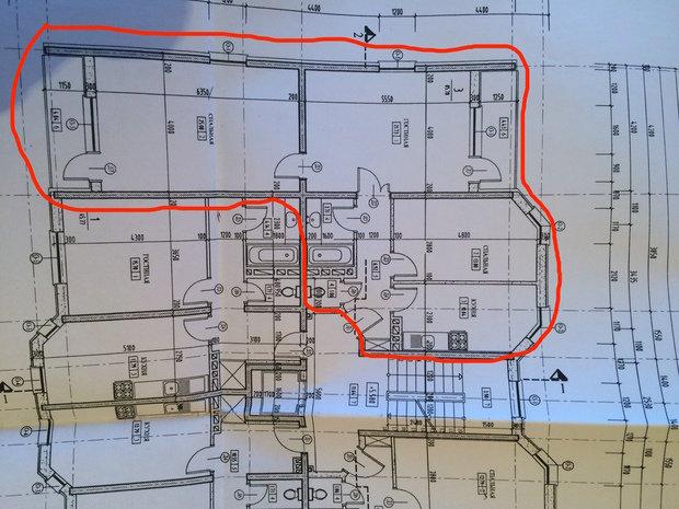 перепланировка 3к квартиры