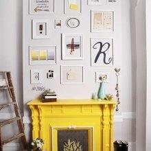 Фотография: Декор в стиле Эклектика, Декор интерьера, Цвет в интерьере, Текстиль, Картины, Желтый – фото на InMyRoom.ru