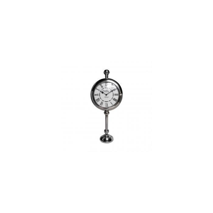 Часы NICKEL CLOCK ON PEDESTAL