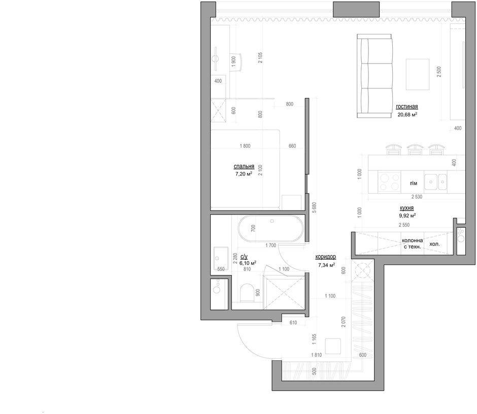 Фотография: Планировки в стиле , Квартира, Минимализм, Проект недели – фото на InMyRoom.ru