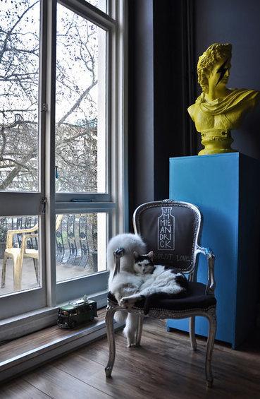 Фотография: Декор в стиле Эклектика, Квартира, Цвет в интерьере, Дома и квартиры, IKEA, Лондон, Черный, Поп-арт – фото на InMyRoom.ru