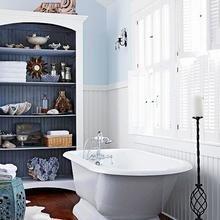 Фотография: Ванная в стиле Кантри, Декор интерьера, DIY, Интерьер комнат, Переделка – фото на InMyRoom.ru