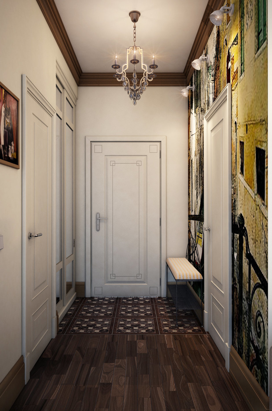 Фотография: Прихожая в стиле Прованс и Кантри, Классический, Квартира, Проект недели – фото на InMyRoom.ru