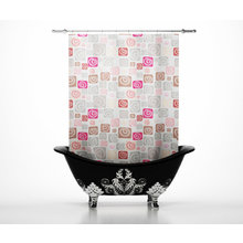 Дизайнерские шторы для ванной: Стильные ракушки