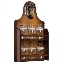 Набор из 6 банок (стекло) с полкой Дублин-2