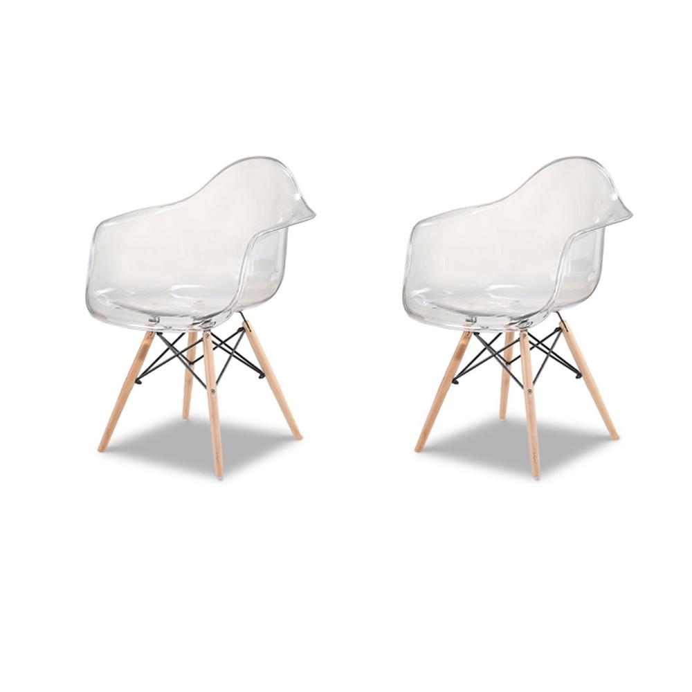 Купить Набор из двух стульев с прозрачным сидением, inmyroom, Китай
