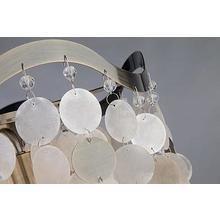 Подвесная люстра Shelly с плафоном цвета белый перламутр