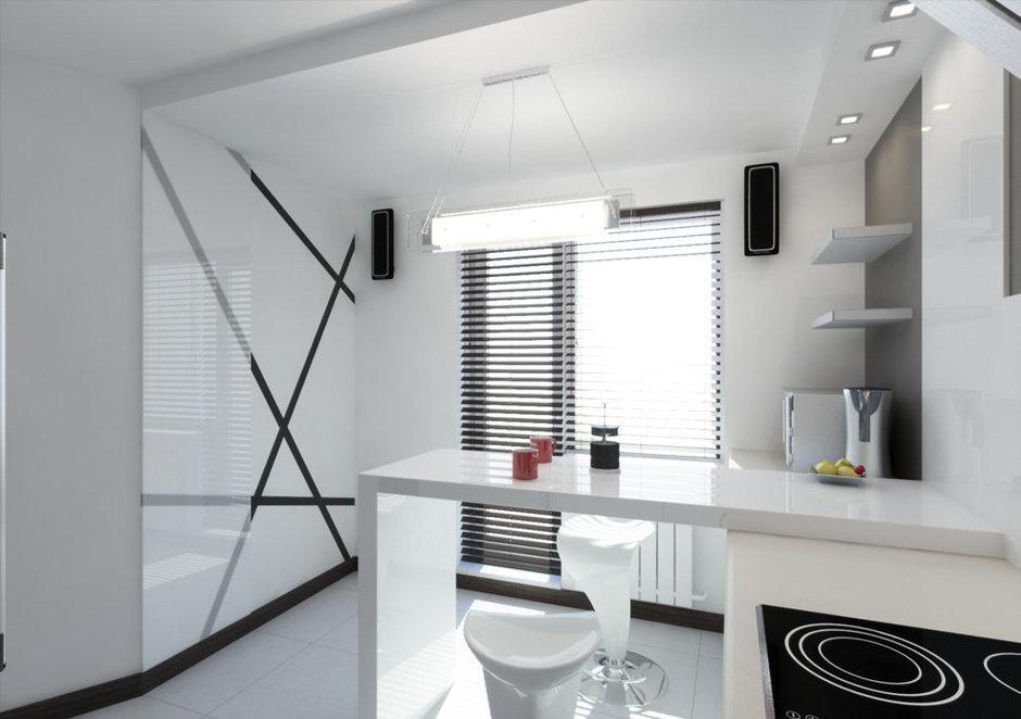 Фотография: Кухня и столовая в стиле Хай-тек, Квартира, Дома и квартиры, Минимализм, Проект недели – фото на InMyRoom.ru
