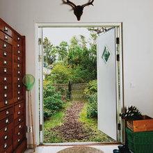 Фотография: Прихожая в стиле Скандинавский, Дом, Дома и квартиры, Плетеная мебель, Дом на природе – фото на InMyRoom.ru